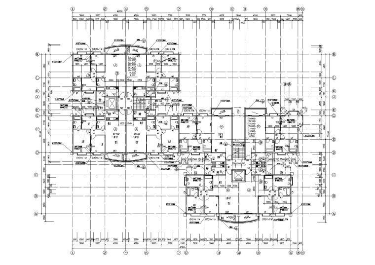 小高层一梯四户住宅楼建筑施工图及大样图_7