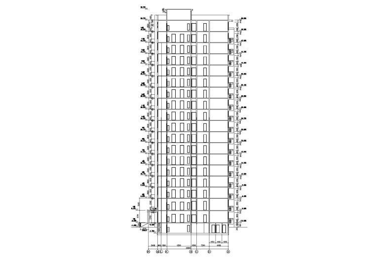 [浙江]衢州世通华庭小区高层底商住宅楼建筑施工图_8