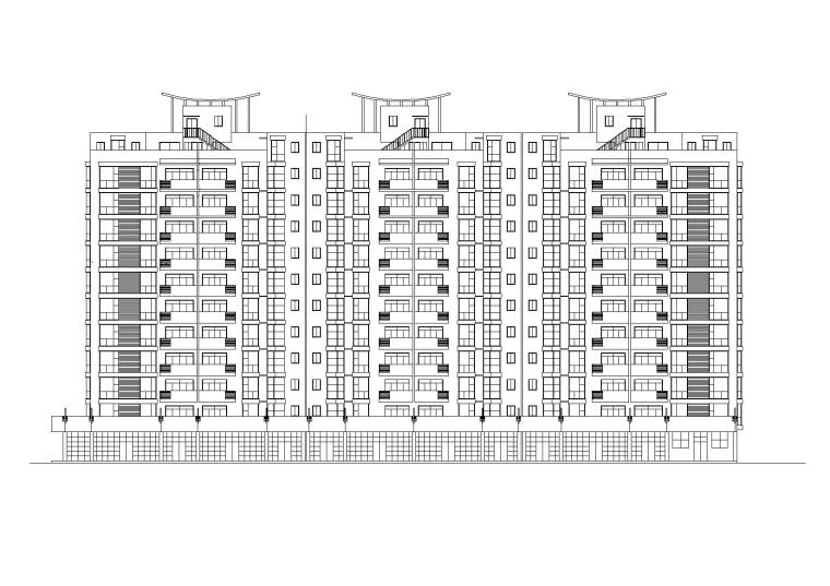 高层底商住宅楼建筑施工图(含效果图)_1