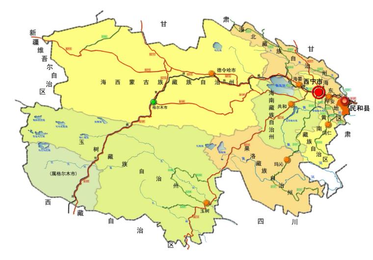 [青海]西宁市民和县城镇总体规划图纸