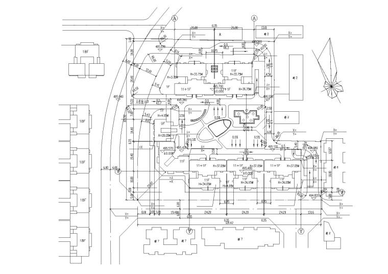 高层底商住宅楼建筑施工图(含效果图)_6