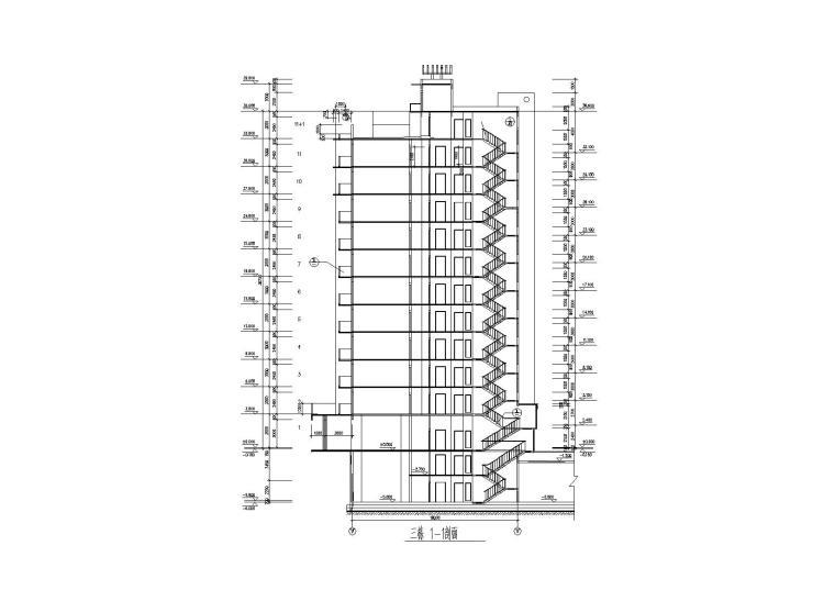 高层底商住宅楼建筑施工图(含效果图)_7
