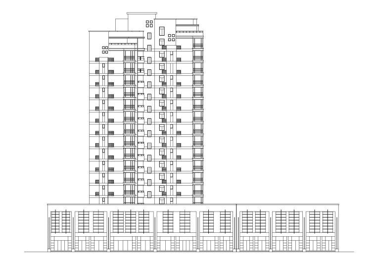 [浙江]衢州世通华庭小区高层底商住宅楼建筑施工图_1