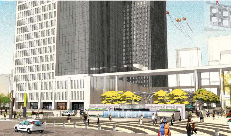 [河南]郑州建正中心商业景观概念方案文本(商业街,屋顶花园)