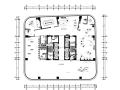 LGA国内甲级写字楼样板房装修施工图+设计方案效果图