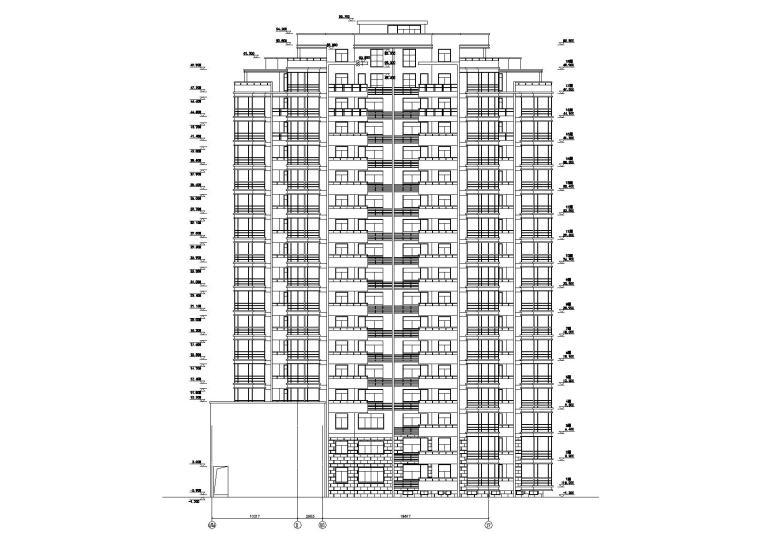 [浙江]衢州世通华庭小区高层底商住宅楼建筑施工图_3