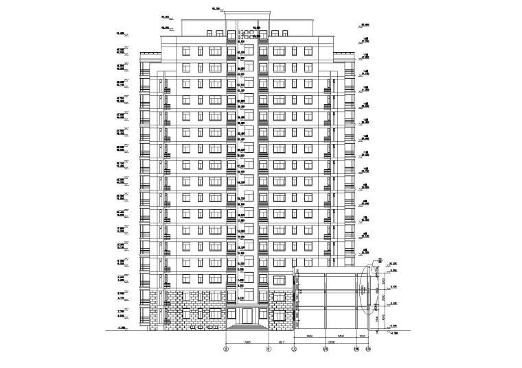 [浙江]衢州世通华庭小区高层底商住宅楼建筑施工图_9