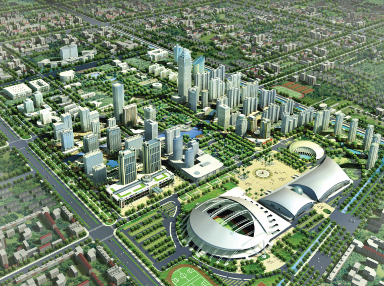 [江苏]南通商业中心区总体规划方案图