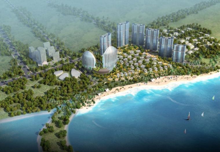 [广东]惠州大亚湾东正酒店及别墅区建筑设计方案图