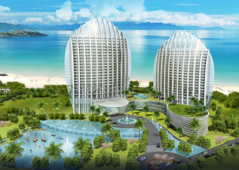 [广东]惠州大亚湾东正酒店及别墅区建筑设计方案图_2