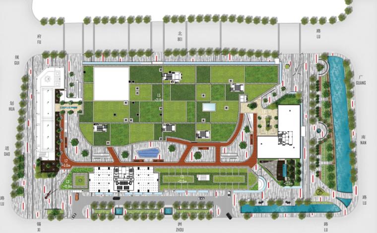 [浙江]无锡哥伦布广场景观二期项目景观方案文本_1