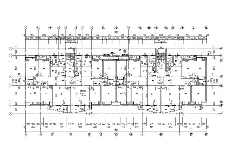 底层架空一梯两户高层住宅楼建筑施工图_1