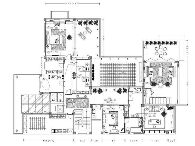 阳光花园现代风格别墅样板房施工图+实景图_3