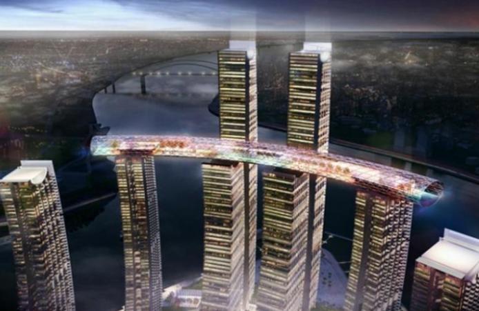 重庆来福士广场空中连桥减隔震设计