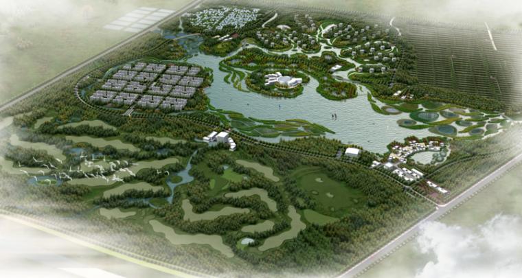 [河南]长垣县王家潭生态公园核心区规划设计