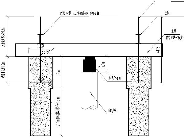 路基桩板结构桩检测反压方案示意图
