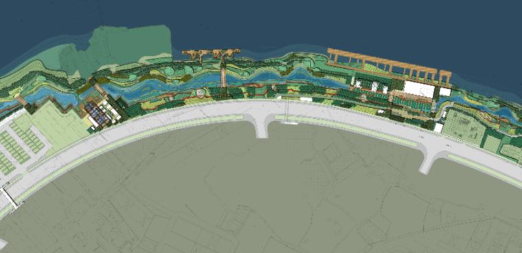 上海后滩公园景观平面图psd分层素材