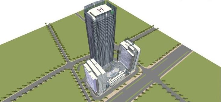 现代风格商业建筑模型设计-长沙知名地产中心 (1)