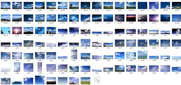蓝天白云图片ps素材