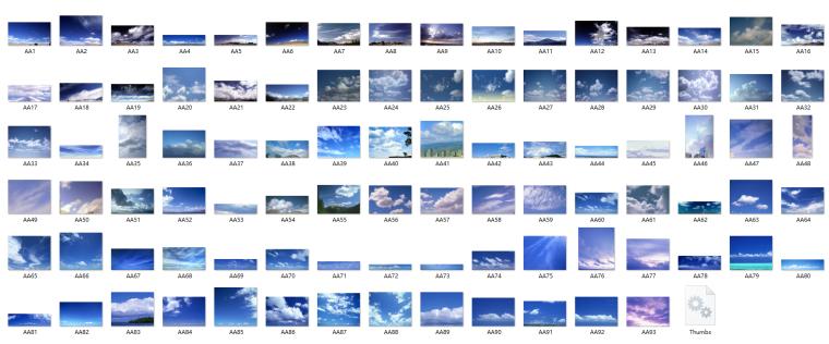 蓝天白云图片ps素材_3