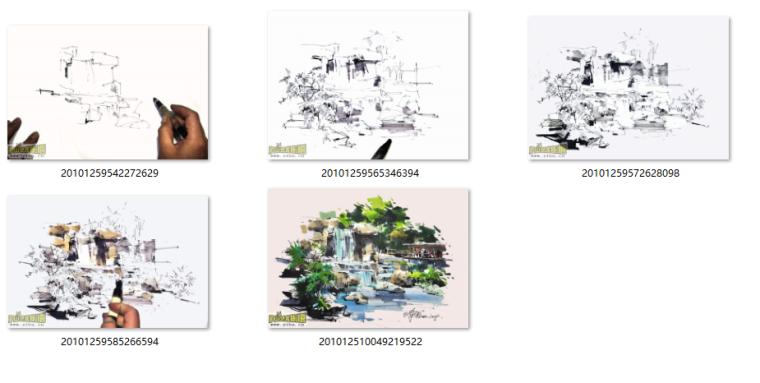 沙沛马克笔手绘表现作品3(视频+手绘图)
