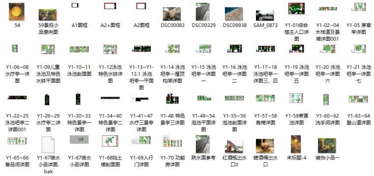 [云南]温泉度假区景观CAD施工图-含水电结构_2