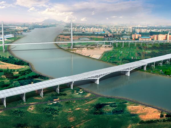 [天津]高速公路特大桥钢桁架制造安装方案