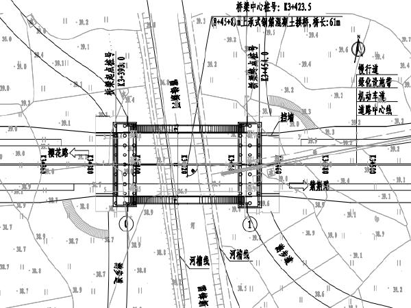 61m跨河刚构拱桥施工图设计(含计算书)