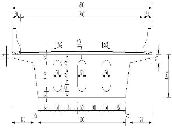 分离式立交上跨现浇预应力砼连续刚构桥图纸