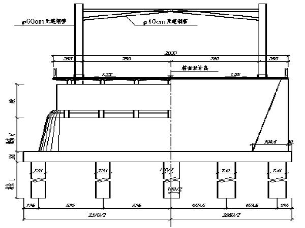 309.064米刚架拱桥施工图