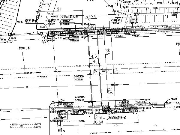 [长沙]中学门口人行过街天桥施工图设计
