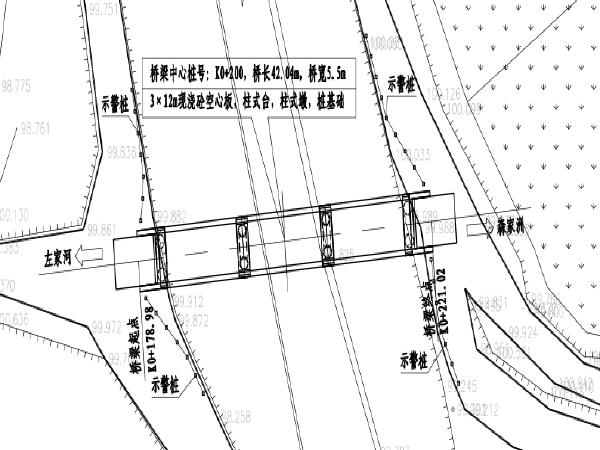 跨越沟渠桥梁新建工程施工图纸(含清单)