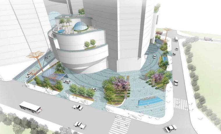[广西]昆明世界贸易中心商业广场景观方案