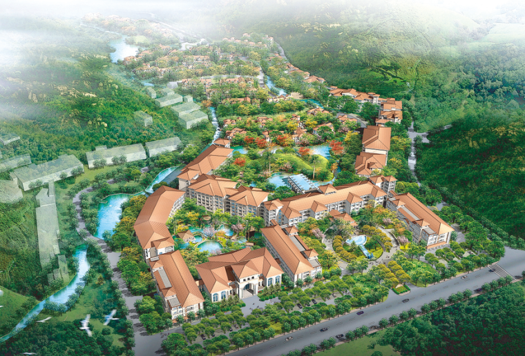 [江西]庐山天恒温泉度假酒店项目方案效果图