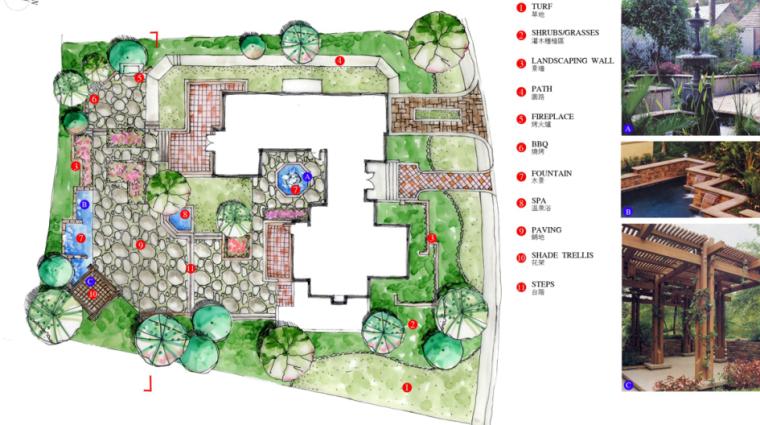 中房森林别墅庭院景观设计3套方案[方案一]_9