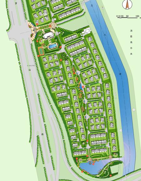 汤臣高尔夫别墅区景观设计概念方案(39页)