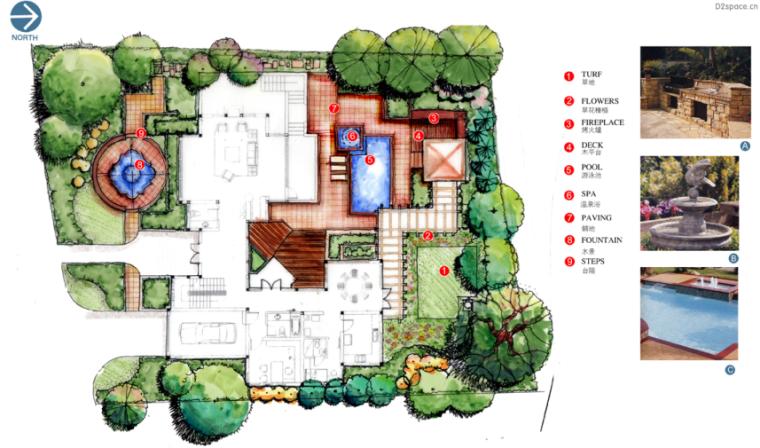 中房森林别墅庭院景观设计3套方案[方案三]_4