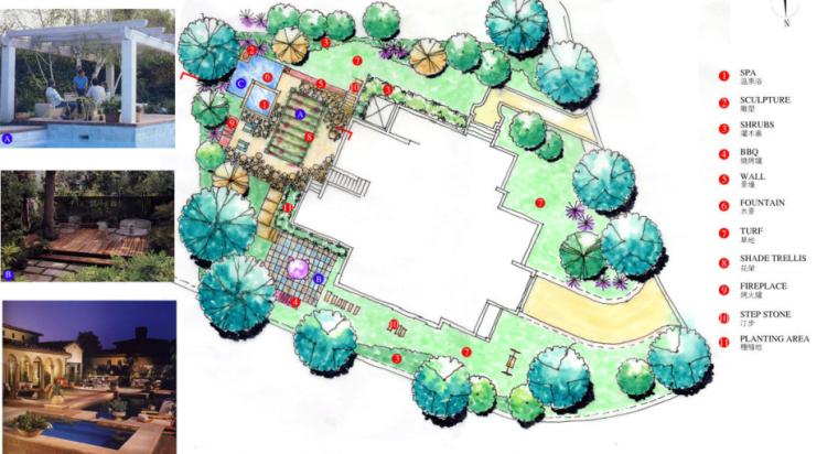 中房森林别墅庭院景观设计3套方案[方案一]_7