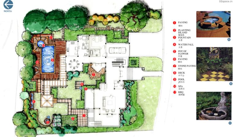 中房森林别墅庭院景观设计3套方案[方案三]_5