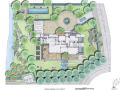 [上海]世茂佘山庄园别墅景观设计-庭院手绘
