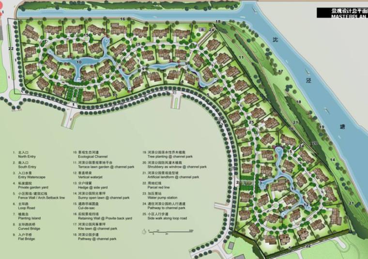 [上海]松江温莎半岛独立别墅景观设计方案