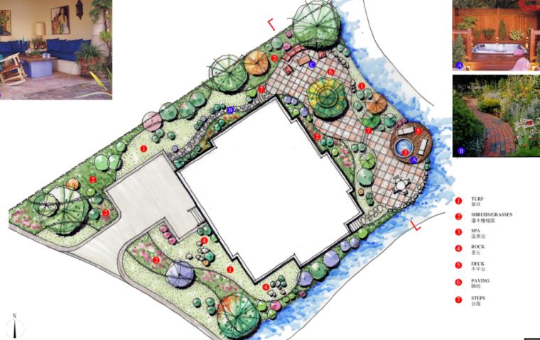 中房森林别墅庭院景观设计3套方案[方案一]_3