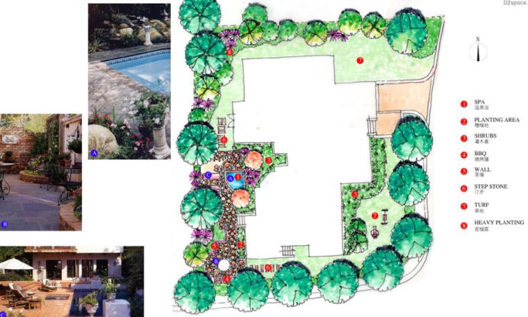 中房森林别墅庭院景观设计3套方案[方案一]_8