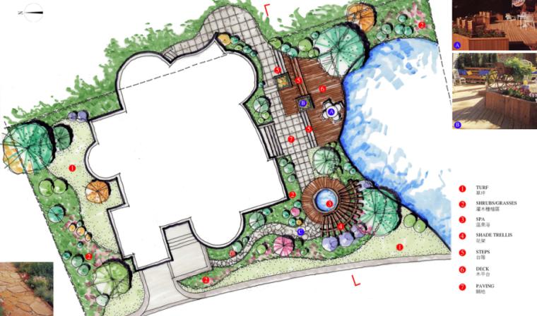 中房森林别墅庭院景观设计3套方案[方案一]_4