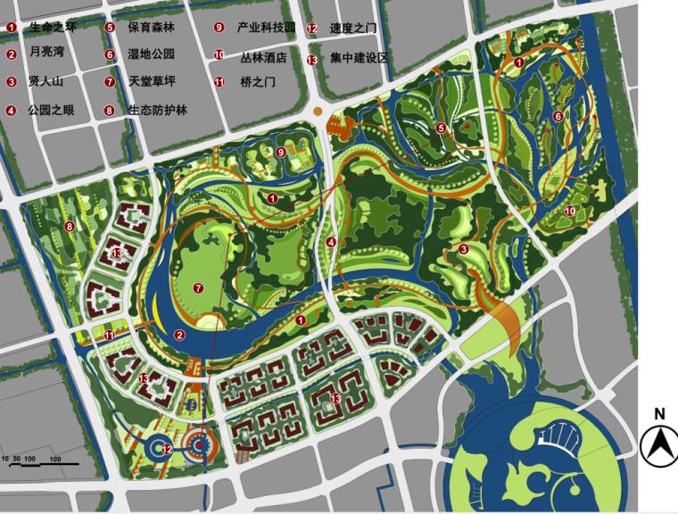 [浙江]杭州南桥新城中央绿地公园方案文本