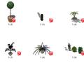 盆栽景观植物su模型(41-50)