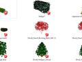 20套3D景观植物su模型-简易灌木