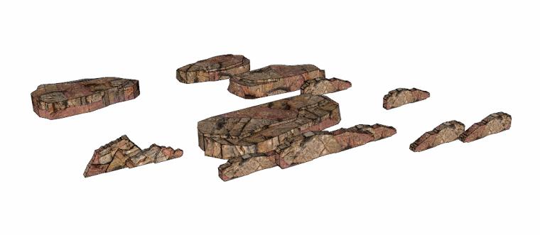 128套景观石su模型(41-50)_2