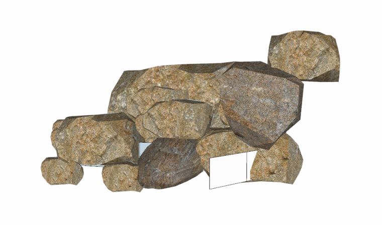 128套景观石su模型(41-50)_3