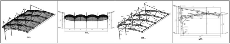 精选!10篇不同类型膜结构施工图~_6